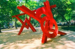 Mark di Suvero's Aesope's Fables (Madison Square Park Conservancy, photo by Jerry Ruotolo, 1990)