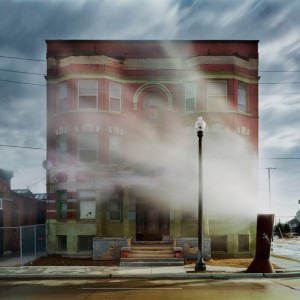 Andrew Moore's The Aurora, Brush Park Neighborhood (Queens Museum of Art, 2008)