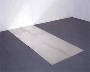 Carl Andre's Tenth Aluminum Cardinal (Paula Cooper gallery, 1978)