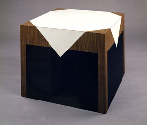 Richard Artschwager's Description of Table (photo by Steven Sloman, Whitney Museum of American Art, 1964)