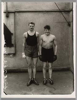 August Sander's Boxers. Paul Röderstein and Hein Hesse (ARS/Metropolitan Museum, c. 1928)