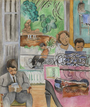 Henri Matisse's The Music Lesson (Barnes Foundation, 1917)