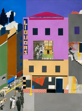 from Romare Bearden's The Block (Romare Bearden Foundation/VAGA, Metropolitan Museum of Art, 1971)