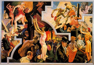Thomas Hart Benton's America Today: City Activities with Subway (AXA Equitable, 1930)