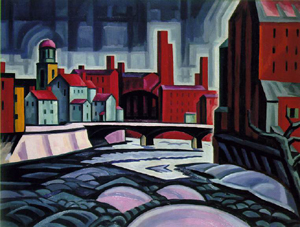 Oscar Bluemner's Paterson Centre (Expression of a Silktown) (New Jersey State Museum, 1914–1915)