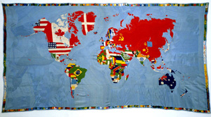 Alighiero Boetti's Mappa (estate of the artist/Artists Rights Society/SIAE, 2011-2012)