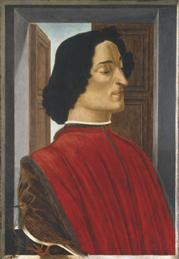 Sandro Botticelli's Giuliano de' Medici (National Gallery of Art, Washington, c. 1478)