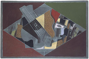 Georges Braque's Guitar and Glass (Kroller-Muller Museum/ARS, 1917)