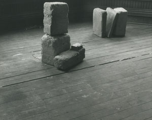 Beverly Buchanan's Untitled (Slab Works 1) photo from estate of the artist/Jane Briggs, private collection, c. 1978)