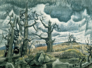 Charles Burchfield's An April Mood (Whitney Museum of American Art, 1946–1955)