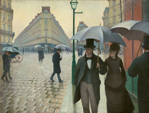 Gustave Caillebotte's Paris Street; Rainy Day (Art Institute of Chicago, 1877)