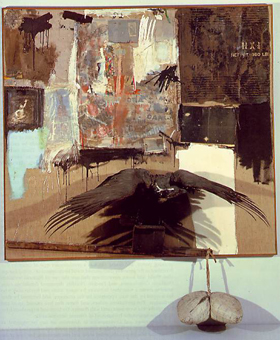 Robert Rauschenberg's Canyon (Sonnabend Collection, gift to Museum of Modern Art, 1959)