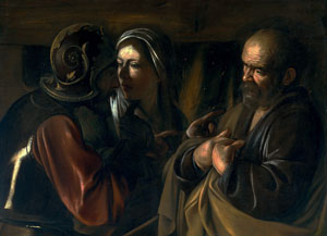 Caravaggio's Denial of Saint Peter (Metropolitan Museum of Art, 1610)