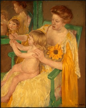 Mary Cassatt's Mother and Child (National Gallery of Art, Chester Dale Collection, c. 1905)