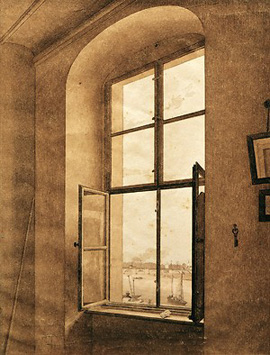 Caspar David Friedrich's View from the Artist's Studio (Belvedere, Vienna, c. 1805)