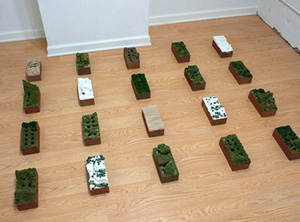 Travis Childers's Brickscapes (photo by the artist, Central Booking, 2011)