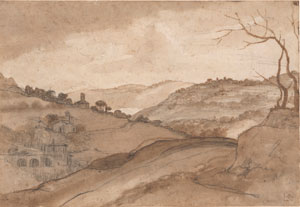 Claude Lorrain's Hilly Landscape with Bare Trees (Morgan Library, 1639–1641)