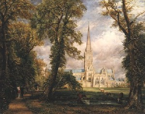 John Constable's Salisbury Cathedral (Frick Collection, photo by Richard di Liberto, New York, 1826)