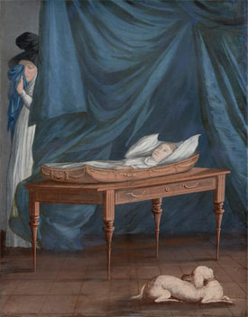 Michele Felice Cornè's Death of William (photo by Kathy Tarantola, Peabody Essex Museum, c. 1807)