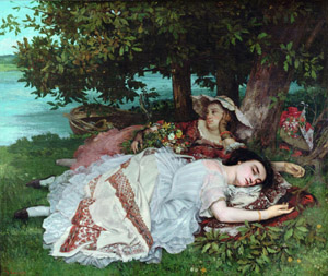 Gustave Courbet's Young Women by the Banks of the Seine (Petit Palais, 1856–1857)
