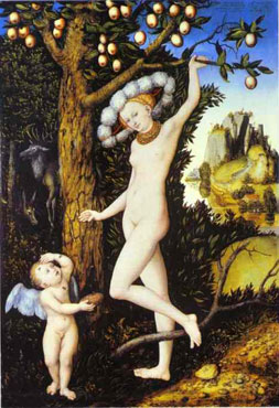 Lucas Cranach the Elder's Venus and Cupid (National Gallery, London, 1530s)
