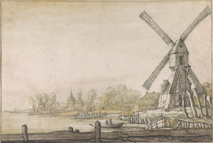 Aelbert Cuyp's Windmill by a River (Morgan Library, Clement C. Moore collection, c. 1640)