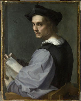 Andrea del Sarto's Portrait of a Young Man (Frick Collection, c. 1518)