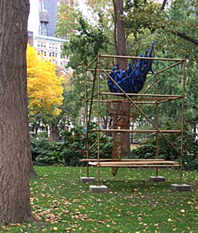Abigail DeVille's Light of Freedom (photo by John Haber, Madison Square Park Conservancy, 2020)