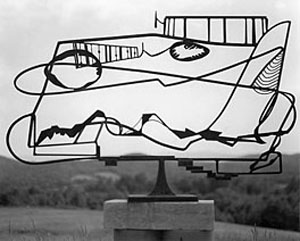 David Smith's Hudson River Landscape (Whitney Museum, photo by David Smith/VAGA New York, 1951)