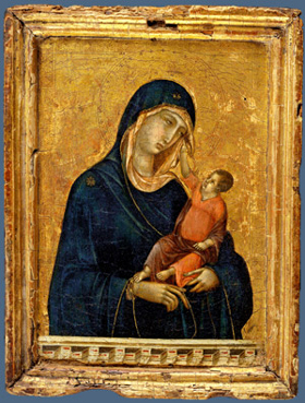 Duccio's Madonna and Child (Metropolitan Museum, c. 1300)