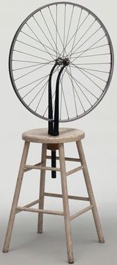 Marcel Duchamp's Bicycle Wheel (Museum of Modern Art/Artists Rights Society, 1913/1951)