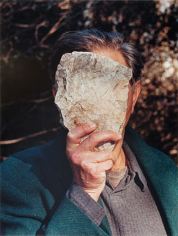 Jimmie Durham's Self-Portrait Pretending to Be a Stone Statue of Myself (ZKM Center for Art and Media, 2006)