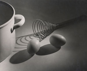 Elisabeth Hase's Untitled (Eggbeater with Shadow and Eggs) (Robert Mann gallery, 1949)