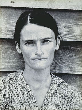 Walker Evans's (for real) Alabama Tenant Farmer's Wife (University of Texas, Austin, 1936)