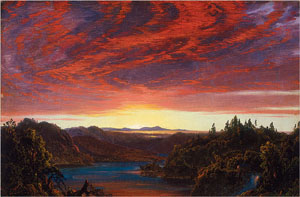Study for Twilight in the Wilderness (National Academy Museum, 1858)