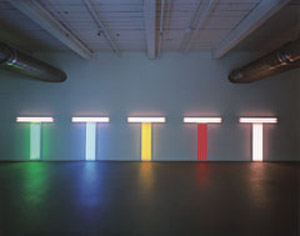 Dan Flavin's Untitled (to Don Judd, Colorist), 1-5 (Stephen Flavin/Artist's Rights Society, 1987)