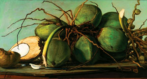 Francisco Oller's Still Life with Coconuts (private collection, c. 1893)