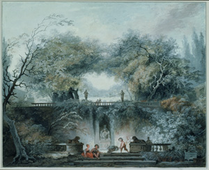 Jean Honore Fragonard's Interior of a Park (Morgan Library/Thaw Collection, c. 1765)