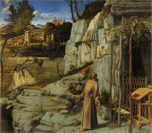 Giovanni Bellini's St. Francis in the Desert (Frick Collection, c. 1478)