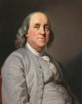 Joseph Siffred Duplessis's Benjamin Franklin (New York Public Library, 1777)