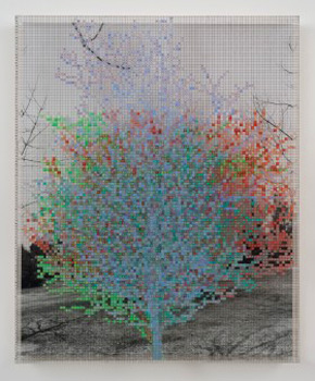 Charles Gaines's Numbers and Trees VI, Landscape, #7 (private collection/Susanne Vielmetter Los Angeles Projects, 1989)