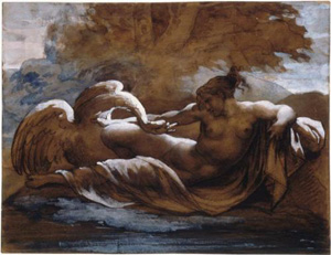 Theodore Gericault's Leda and the Swan (Louvre/Reunion des Musees Nationaux/Art Resource NY, c. 1817)
