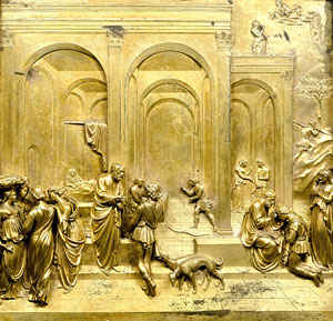 Lorenzo Ghiberti's Jacob and Esau (photo by Antonio Quattrone, Museo dell'Opera del Duomo, 1425-1452)
