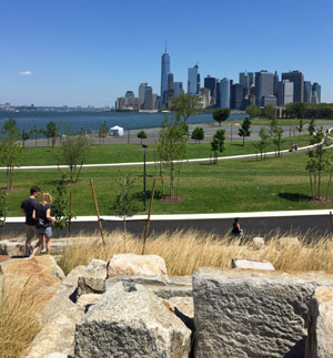 From the hills of Governors Island (photo by John Haber, 2016)
