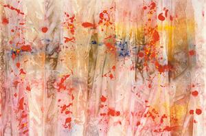 Sam Gilliam's Red April (University of Iowa Museum of Art, 1970)