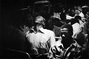 David Goldblatt's After a day's work they take the bus from Pretoria (Jewish Museum, 1984)