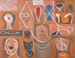 'Adolph Gottlieb's The Alchemist (Tate, Adolph & Esther Gottlieb Foundation, 1945)