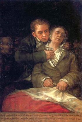 Goya's Self-Portrait with Dr. Arrieta (Minneapolis Institute of Arts, 1820)