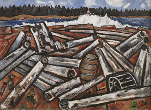 Marsden Hartley's Log Jam, Penobscot Bay (Detroit Institute of Arts, 1941)