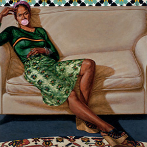 Barkley L. Hendricks's Sweet Thang (Lynn Jenkins) (Nasher Museum at Duke University, 1975)